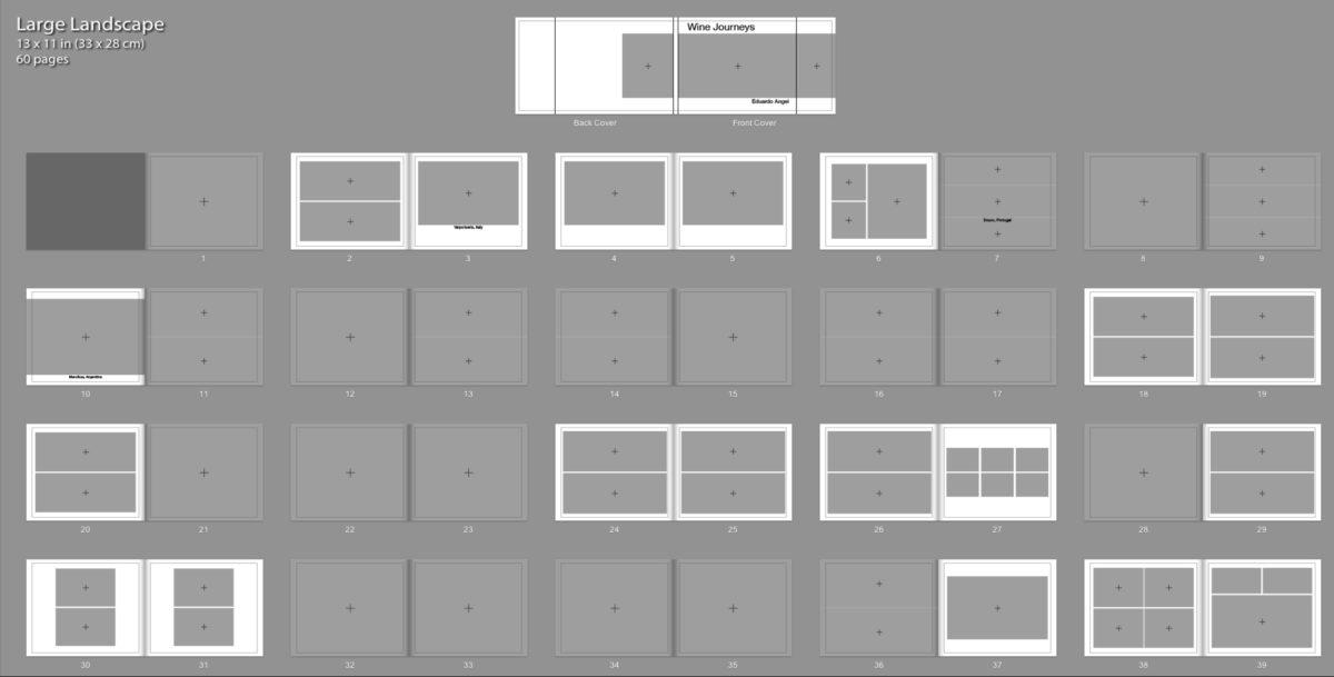 grid design for book pages - landscape
